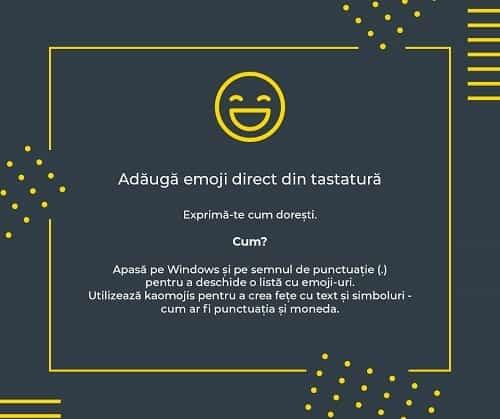 Adauga emoji din tastatura