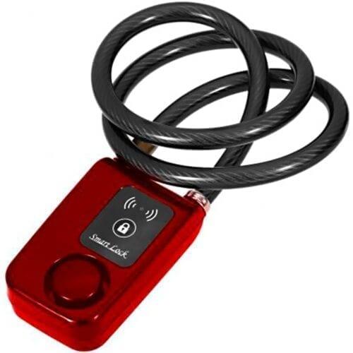 Antifurt Pegas smart bluetooth BL-01, cablu 10mmx1200mm, 3xAAA, culoare rosu, F19BL01-1200-RED