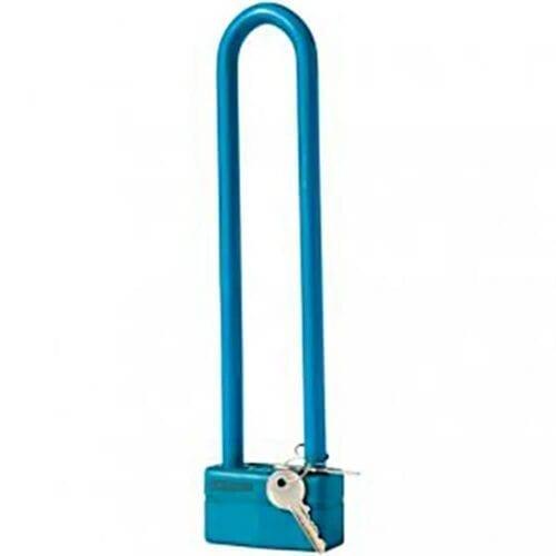 Antifurt U-lock YWS-70P, logo Pegas argintiu, acoperit cu vinil, 70x300mm, 2 chei, culoare albastru