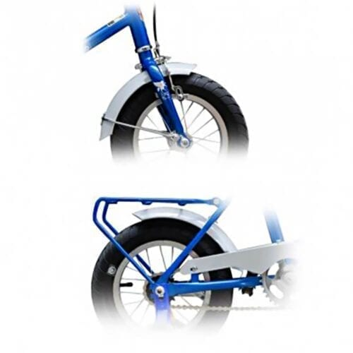 Aparatori bicicleta Pegas Soim 16, culoare alb, FD-SOIM-WH