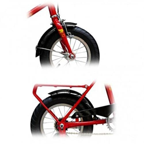 Aparatori bicicleta Pegas Soim 16, culoare negru, FD-SOIM-BK