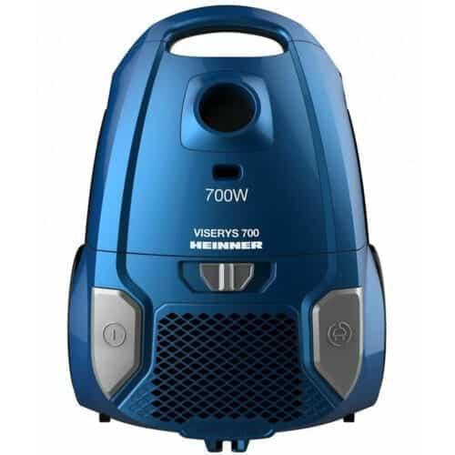 Aspirator cu sac Heinner HVC-MBL1400-V2, 700 W, sac textil, 3 L, Filtru HEPA 12, tub telescopic metalic, Albastru