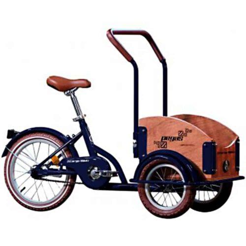 Bicicleta copii Pegas Mini Cargo, 1S, cadru otel 7inch, 1 viteza, roti F/S 12-16inch, albastru calator, MINICARGOBLUE
