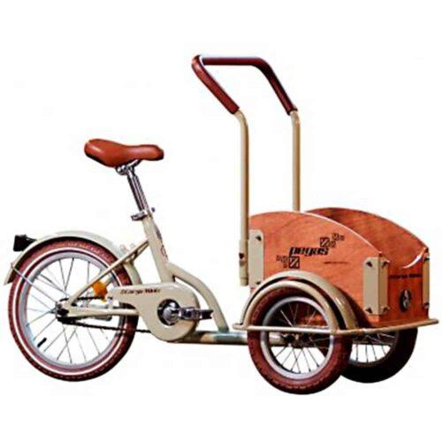 Bicicleta copii Pegas Mini Cargo, 1S, cadru otel 7inch, 1 viteza, roti F/S 12-16inch, crem aluna, MINICARGOCREME