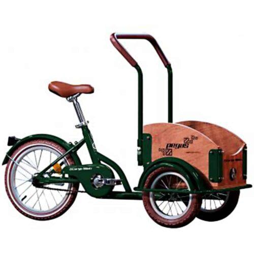 Bicicleta copii Pegas Mini Cargo, 1S, cadru otel 7inch, 1 viteza, roti F/S 12-16inch, verde smarald, MINICARGOGREEN