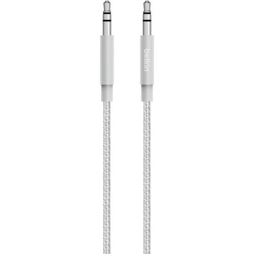 Cablu AUX Belkin, Mixit Up Metallic , jack 3.5 mm, 1.2m, Argintiu, AV10164BT04-SLV