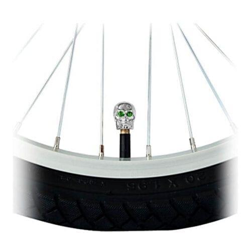 Capac Valva Craniu, Argintiu / Verde, C06CSAC11-SIL-GN