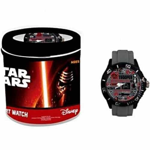 Ceas de mana analog Star Wars Storm Trooper, curea din silicon, gri, Disney NV3102, NV3102