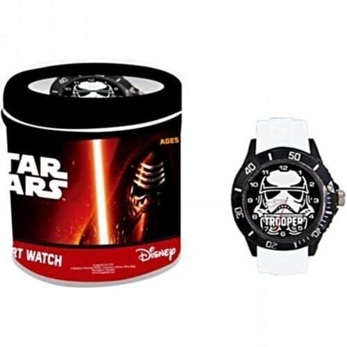 Ceas de mana analog Star Wars Storm Trooper , curea din silicon, negru-alb, Disney NV3096, NV3096