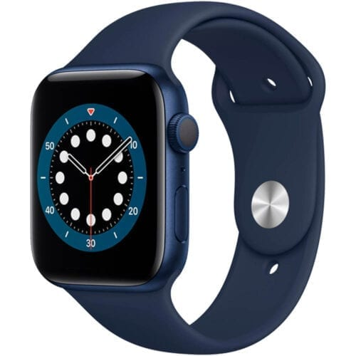 Ceas smartwatch Apple Watch S6 GPS, 44mm, carcasa aluminiu, Blue, M00J3