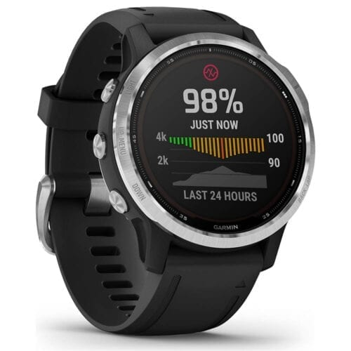 Ceas smartwatch Garmin Fenix 6S, Instinct Solar, 42 mm, GPS, Silver / Black, 010-02409-00
