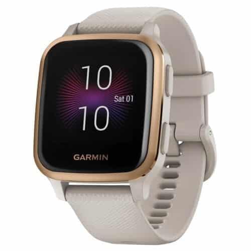 Ceas smartwatch Garmin Venu Sq, Music Edition, Light Sand / Rose Gold, 010-02426-11