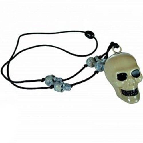 Colier cu craniu, material plastic, de Halloween pentru copii Out of the Blue OOTB98/2018, OOTB98/2018