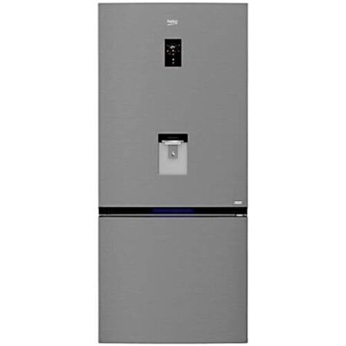 Combina frigorifica Beko RCNE720E30DXPN, 586 L, Clasa A++, NeoFrost, Dispenser Apa, Display Touch Control, Argintiu