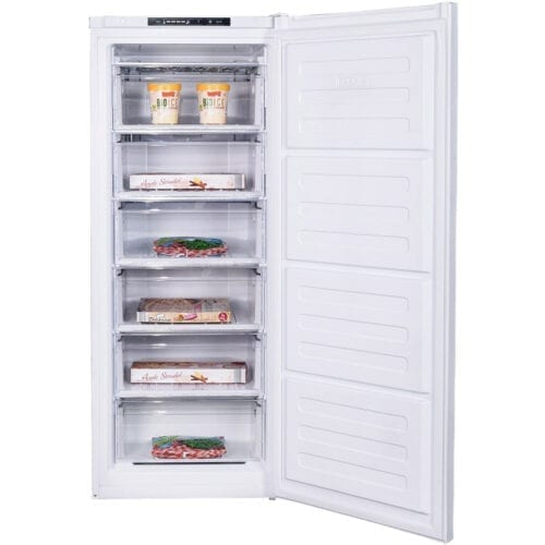 Congelator vertical Arctic AC54210+, 168 l, 6 sertare, Clasa A+, usi reversibile, H 139.5 cm, Alb