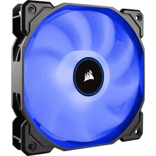 Cooler carcasa Corsair AF120 LED Low Noise Cooling Fan, 1500 RPM, Single Pack, Blue