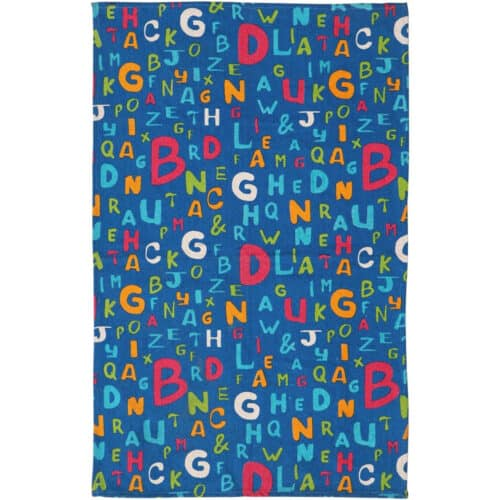 Covor Heinner Home Alfabet, 160 x 120 cm, bumbac, multicolor