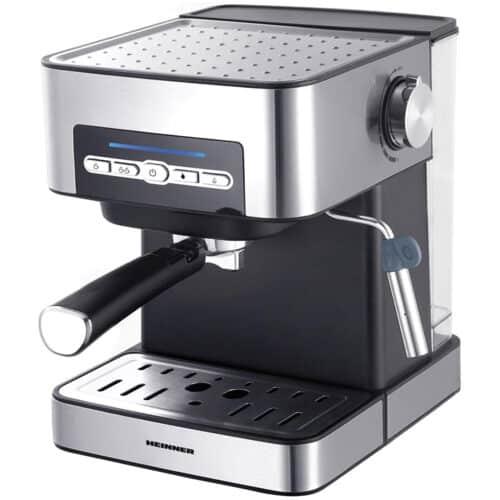 Espressor semi-automat Heinner HEM-B2016SA, 20 bar, 850W, rezervor apa 1.6L, plita pentru mentinere cafea calda