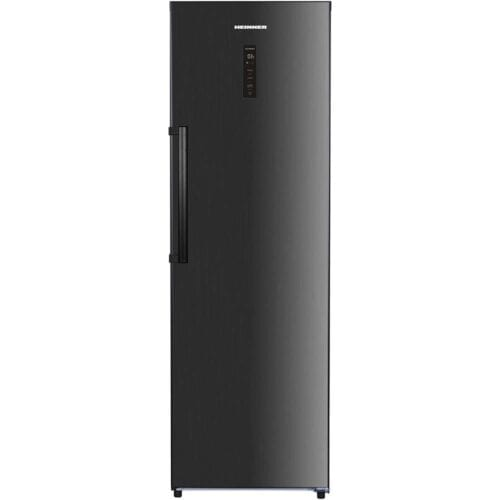 Frigider cu o usa Heinner HF-H355NFDX++, 355 L, NoFrost, Control electronic, Clasa A++, 185 cm, Inox negru