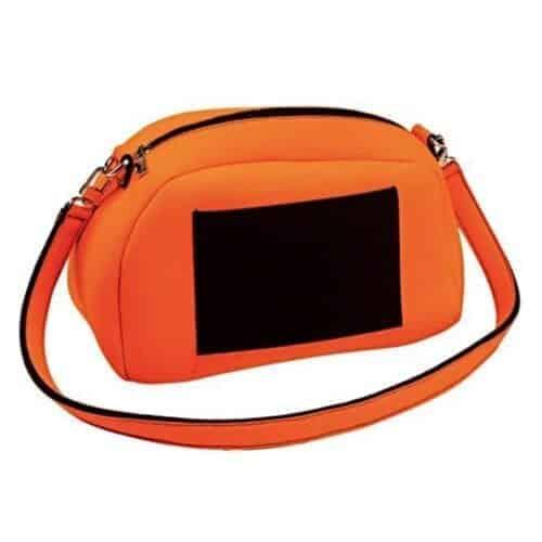 Geanta de umar Nfun Funny, material neopren, culoare portocaliu/negru, NFCVB032