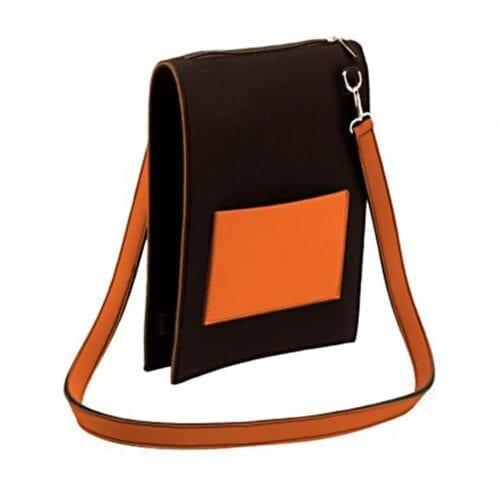 Geanta de umar Nfun Trendy, material neopren, culoare negru/portocaliu, NFCVB056