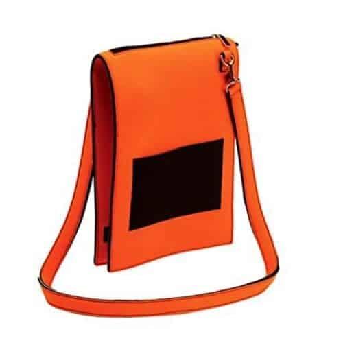 Geanta de umar Nfun Trendy, material neopren, culoare portocaliu/negru, NFCVB055