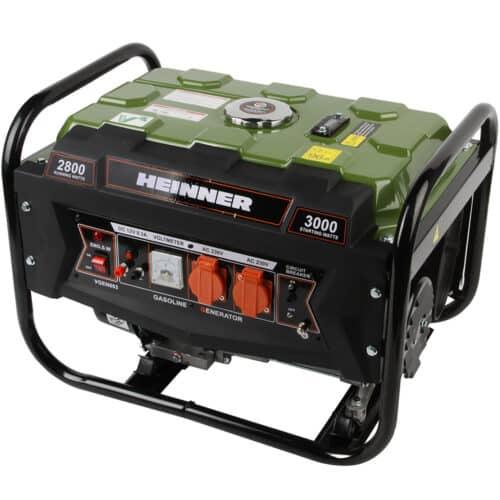 Generator Heinner VGEN003, 2800 W, 210 CC, 230 V, 4 timpi, 12.2 l, benzina, autonomie 10 ore