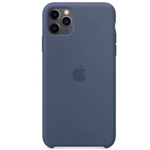 Husa de protectie Apple pentru iPhone 11 Pro Max, Silicon, Alaskan Blue, MX032ZM/A