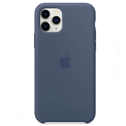 Husa de protectie Apple pentru iPhone 11 Pro, Silicon, Alaskan Blue, MWYR2ZM/A