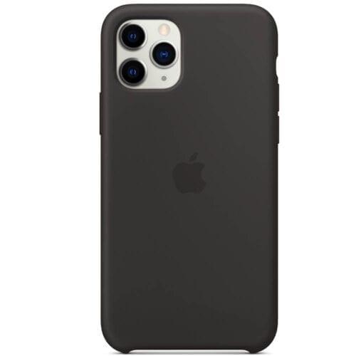 Husa de protectie Apple pentru iPhone 11 Pro, Silicon, Black, MWYN2ZM/A