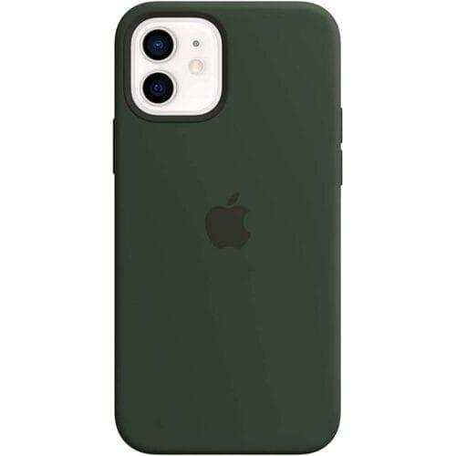 Husa de protectie Apple Silicone Case MagSafe pentru iPhone 12 / 12 Pro, Cypress Green, MHL33ZM/A