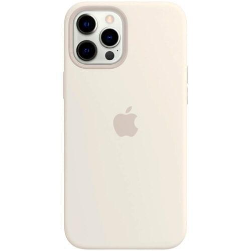 Husa de protectie Apple Silicone Case MagSafe pentru iPhone 12 / 12 Pro, White, MHL53ZM/A