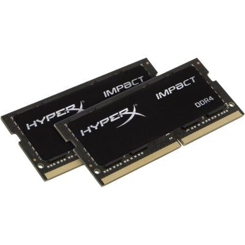 Kit memorii HyperX Impact 32GB (2x16GB) 2666MHz DDR4, CL16, SODIMM, 1.2V, NON ECC