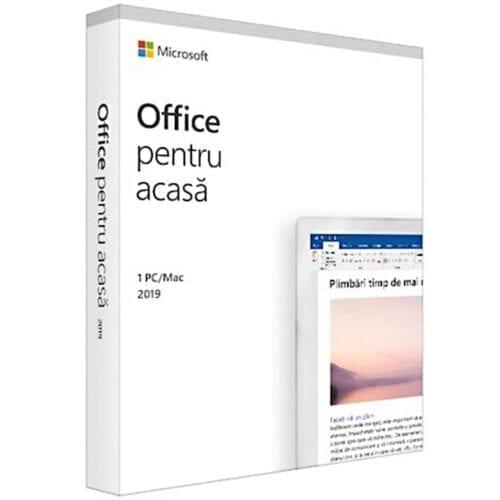 Licenta Microsoft Home and Student 2019, Romana, 1 utilizator, Medialess, Retail, 79G-05162