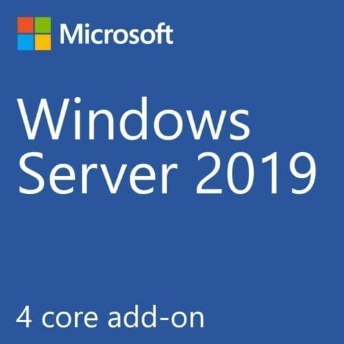 Licenta Microsoft Windows Server 2019 Standard, 4 Core, Add License EMEA SW, P11065-A21