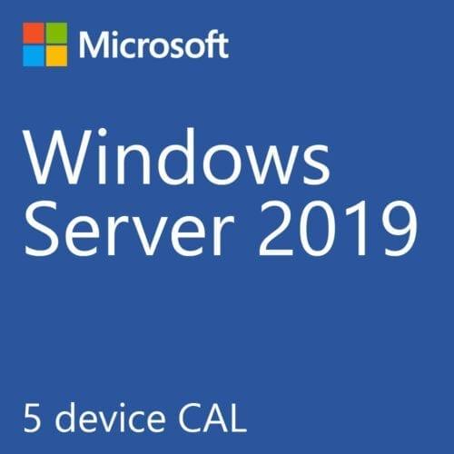 Licenta Microsoft Windows® Server 2019 Standard, 5 Device CALs, 623-BBDD