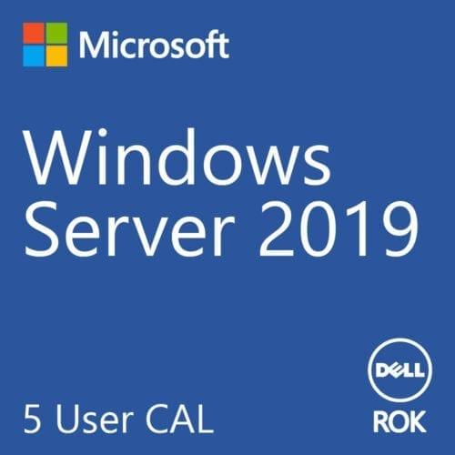 Licenta Microsoft Windows® Server 2019 Standard, Dell ROK, 5 User CALs, 623-BBDB