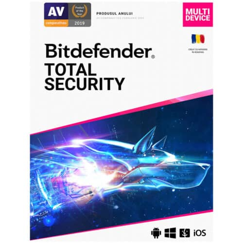 Licenta Retail Bitdefender Total Security, 10 dispozitive, 1 an