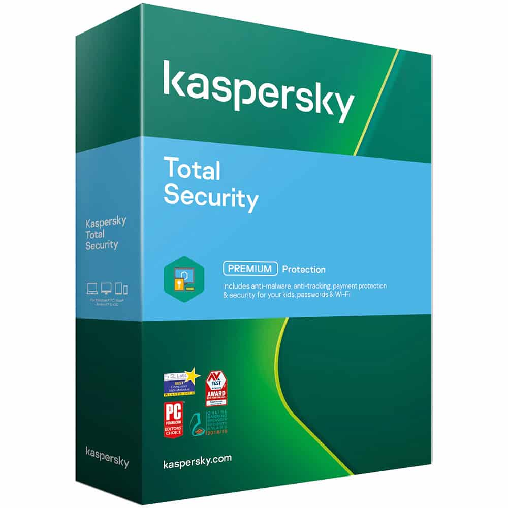 Licenta retail Kaspersky Total Security, licenta noua, 1 an, 1 dispozitiv, box
