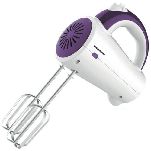 Mixer de mana Heinner HM-250UV, 200 W, 5 viteze, accesorii inox, Violet