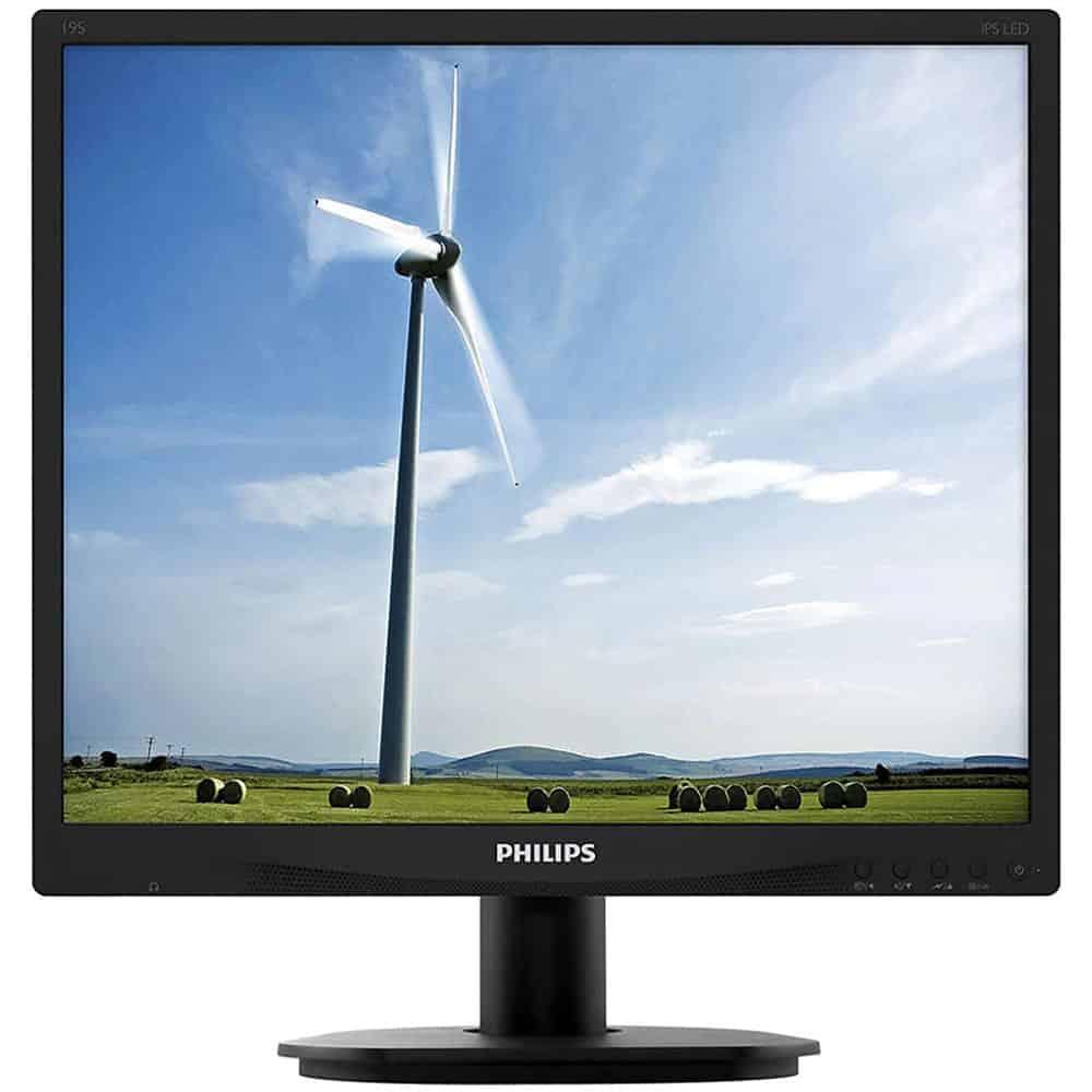 Monitor LED Philips 19'', DVI, VGA, 19S4QAB/00, Negru