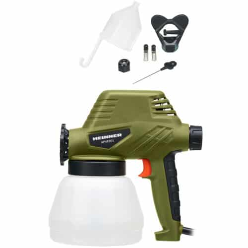 Pistol de vopsit Heinner APVE001, 110W, 300 ml/min debit, 1300 ml, accesorii incluse