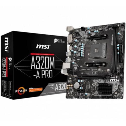 Placa de baza MSI A320M-A PRO, Socket AM4, 2x DDR4, m-ATX Form