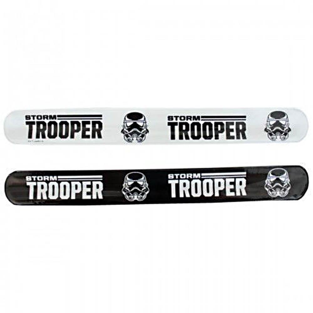 Set 2 bratari Star Wars Storm Trooper, alb-negru, Disney NV2303, NV2303