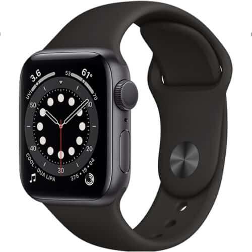 Smartwatch Apple Watch S6, 1.78inch, GPS, Cellular, curea silicon, Space Grey - Black