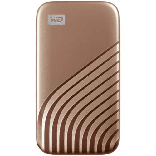SSD Extern WD My Passport 2TB, USB 3.2 Gen2 Type-C/A, NVMe, Gold