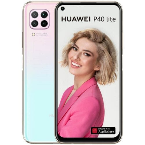 Telefon mobil Huawei P40 Lite, Dual SIM, 128GB, 6GB RAM, 4G, Pink Blue, P40LITE6128DSPKBL
