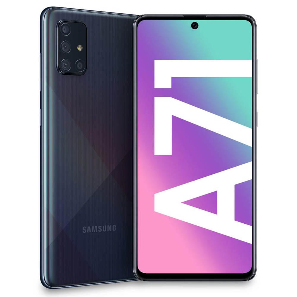 Telefon mobil Samsung Galaxy A71, A715F, Dual SIM, 128GB, 6GB RAM, 4G, Black, SM-A715FZKU