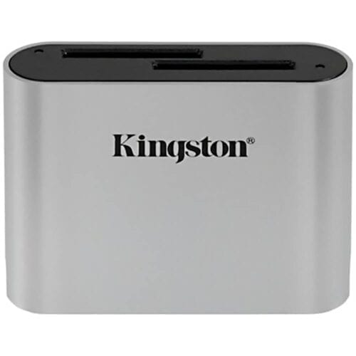 Accesoriu Kingston Workflow Station Card Reader Dual-Slot, SDHC si SDXC UHS-II, USB3.2 Gen1, WFS-SD