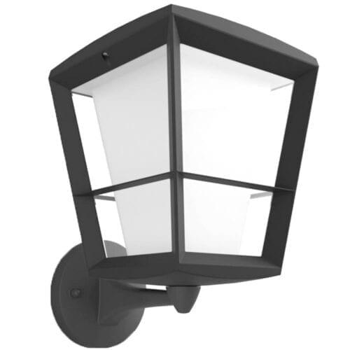 Aplica exterior LED RGBW integrat Philips Econic HUE, 15W (79W), 1150 lm, lumina alba/color, IP44, metal/sticla, varf sus, 000008718696170571